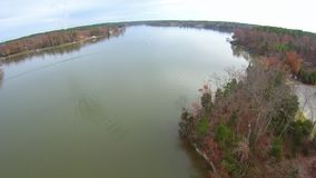 Luchtmening van landschappen en bomen stock videobeelden