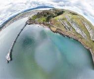 Luchtmening van Llandudno met pijler in Wales - het Verenigd Koninkrijk Stock Foto's