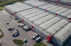 Luchtmening van logistisch centrum royalty-vrije stock foto's