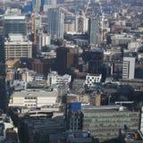 Luchtmening van Londen van de Walkie-talkie die op 20 Fenchurch Straat voortbouwen Stock Afbeelding