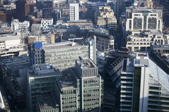 Luchtmening van Londen van de Walkie-talkie die op 20 Fenchurch Straat voortbouwen Royalty-vrije Stock Foto's