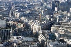 Luchtmening van Londen van de Walkie-talkie die op 20 Fenchurch Straat voortbouwen Stock Foto