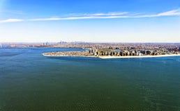 Luchtmening van Long Island in New York royalty-vrije stock afbeeldingen