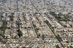 Luchtmening van Los Angeles in de Verenigde Staten Stock Foto