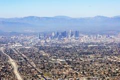 Luchtmening van Los Angeles in de Verenigde Staten stock afbeelding