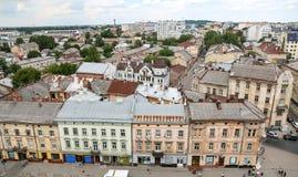Luchtmening van Lviv, de Oekraïne royalty-vrije stock afbeelding