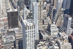 Luchtmening van Manhattan, New York Stock Afbeelding