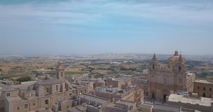 Luchtmening van Mdina stock videobeelden