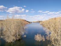 Luchtmening van meer in Colorado Royalty-vrije Stock Foto's