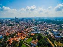 Luchtmening van Melaka-Stad Royalty-vrije Stock Afbeelding