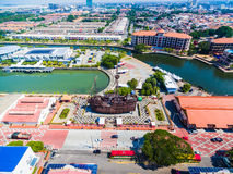 Luchtmening van Melaka-Stad Royalty-vrije Stock Fotografie