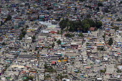 Luchtmening van Mexicaanse favela Stock Afbeeldingen