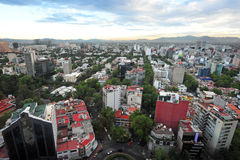 Luchtmening van Mexico-City - Mexico Stock Afbeelding