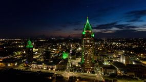 Luchtmening van Mobiele, Cityscape van Alabama Royalty-vrije Stock Foto