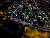 Luchtmening van Mobiele, Cityscape van Alabama Stock Foto