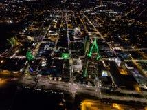 Luchtmening van Mobiele, Cityscape van Alabama Royalty-vrije Stock Afbeeldingen