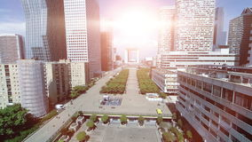 Luchtmening van modern stadspanorama stock footage