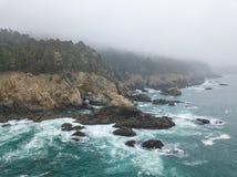 Luchtmening van Mooi, Rocky Northern California Coastline royalty-vrije stock foto's