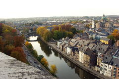 Luchtmening van Namen, België, Europa Stock Fotografie