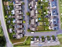 Luchtmening van Nederlandse straat met witte huizen Royalty-vrije Stock Afbeelding