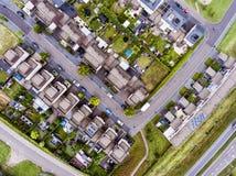 Luchtmening van Nederlandse straat met witte huizen Royalty-vrije Stock Afbeeldingen