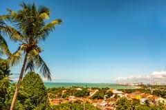 Luchtmening van Olinda en Recife in Pernambuco, Brazilië stock foto