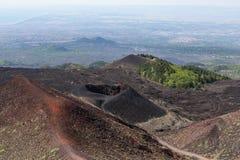 Luchtmening van Onderstel Etna bij het eiland van Sicilië stock fotografie