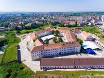Luchtmening van Oradea-Vesting Stock Afbeeldingen