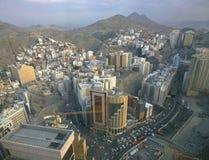 Luchtmening van oud Mecca Saudi Arabia stock fotografie