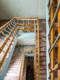 Luchtmening van oude kleurrijke marmeren stappen Stock Fotografie
