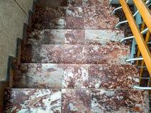Luchtmening van oude kleurrijke marmeren stappen Royalty-vrije Stock Foto's
