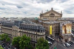 Luchtmening van Parijs met de operabouw Royalty-vrije Stock Afbeelding