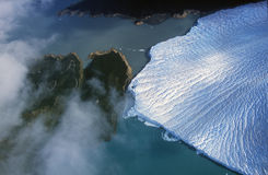 Luchtmening van Perito Moreno Glacier dichtbij Gr Calafate, Patagonië, Argentinië Stock Afbeeldingen