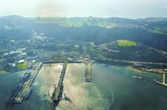 Luchtmening van Point Loma, San Diego royalty-vrije stock fotografie