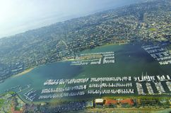 Luchtmening van Point Loma, San Diego stock foto's