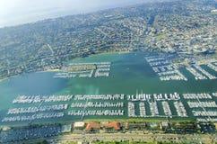 Luchtmening van Point Loma, San Diego stock afbeeldingen