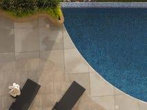 Luchtmening van pool Royalty-vrije Stock Fotografie