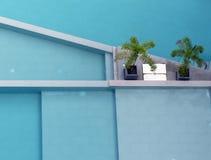 Luchtmening van pool 1 Royalty-vrije Stock Foto's
