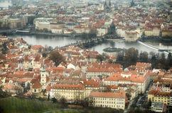 Luchtmening van Praga Stock Fotografie