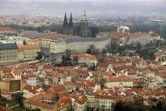 Luchtmening van Praga Castle Royalty-vrije Stock Fotografie