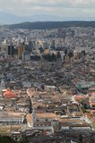 Luchtmening van Quito, Ecuador Stock Fotografie