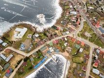 Luchtmening van Rajgrod Royalty-vrije Stock Foto