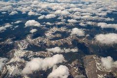Luchtmening van Rocky Mountains in Colorado stock foto's