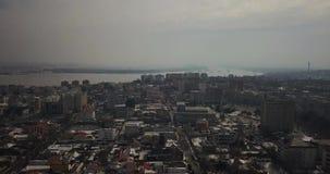 Luchtmening van Roemeense stad in een donkere dag
