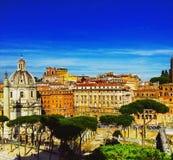 Luchtmening van Rome van de heuvel Janiculum, Italië Royalty-vrije Stock Foto's