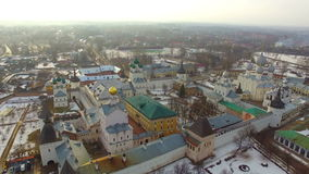 Luchtmening van Rostov het Kremlin stock footage