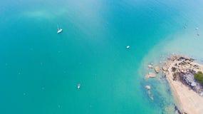 Luchtmening van Saint Pierrepunt in La-strand des Dames, Noirmoutier-eiland royalty-vrije stock foto