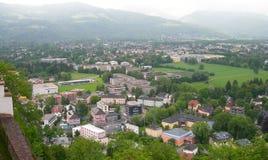 Luchtmening van Salzburg, Oostenrijk royalty-vrije stock afbeeldingen
