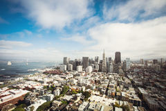 Luchtmening van San Francisco, Californië Royalty-vrije Stock Afbeelding