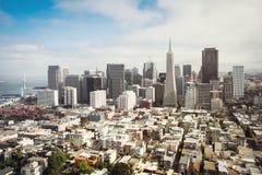 Luchtmening van San Francisco, Californië Royalty-vrije Stock Foto's
